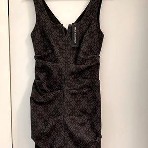 NWT Cocktail Dress Jacquard Fitted Classic Chic
